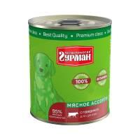 Четвероногий Гурман Мясное ассорти консервы для щенков с говядиной - 340 гр х 12 шт