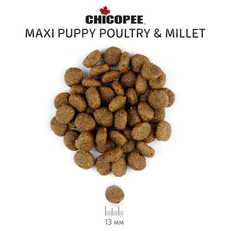 Chicopee Classic Nature Line Maxi Puppy Poultry & Millet сухой корм для щенков крупных пород с птицей и просом 2 кг (15 кг)