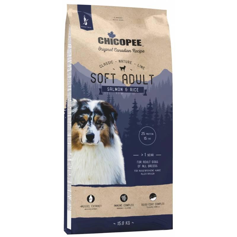 Chicopee Classic Nature Line Soft Adult Salmon & Rice полувлажный корм для взрослых собак всех пород с лососем и рисом 2 кг (15 кг)