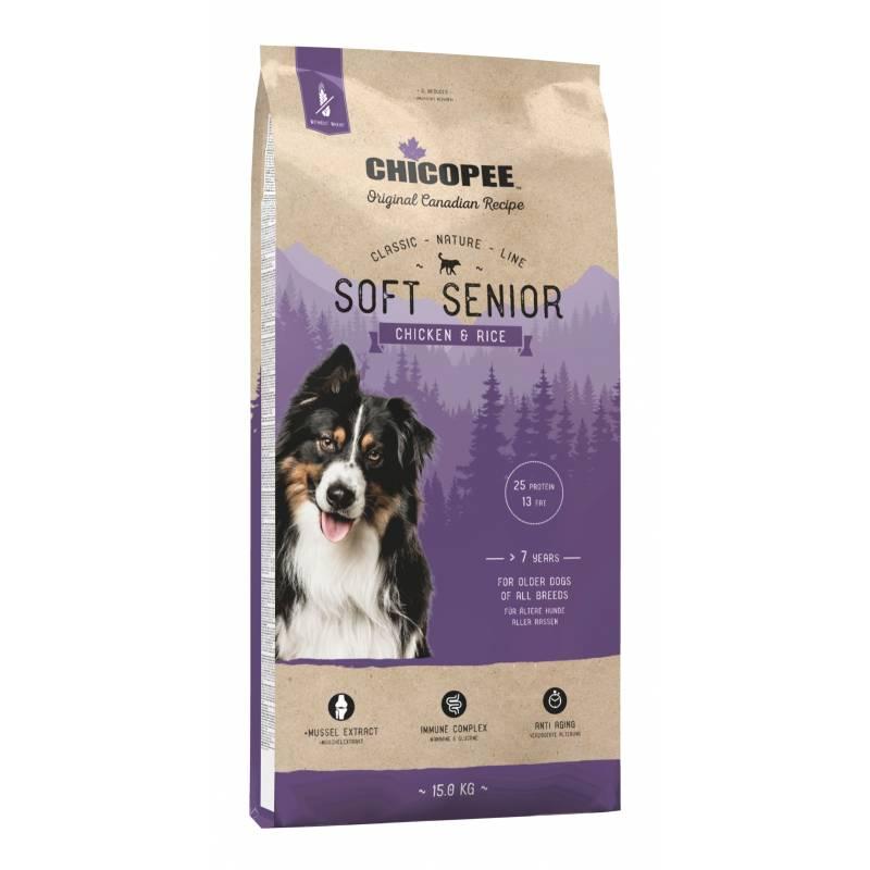 Chicopee Classic Nature Line Soft Senior Chicken & Rice полувлажный корм для пожилых собак всех пород с курицей и рисом 2 кг (15 кг)