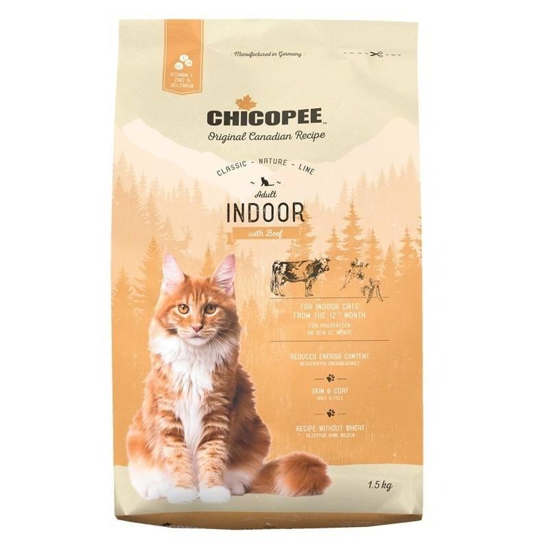 Chicopee Classic Nature Line Cat Adult Indoor сухой корм для домашних кошек с говядиной - 1,5 кг (15 кг)