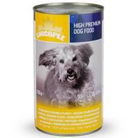 Chicopee Dog Chicken & Turkey консервы с мясными кусочками курицы и индейки в соусе для собак любого возраста- 400 г х 24 (1,23 кг x 12 шт)