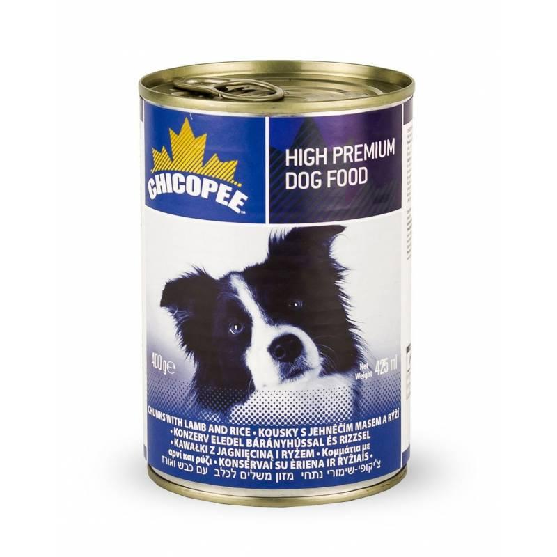 Chicopee Dog Lamb & Rice консервы с мясными кусочками ягненка и рисом в соусе для собак любого возраста - 400 г х 24 шт