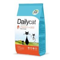 Dailycat Kitten Turkey and Rice сухой корм для котят, беременных и лактирующих кошек с индейкой 400 гр (1,5 кг) (3 кг) (10 кг)