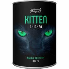 Сухой корм Dailycat Unique line Kitten для котят с курицей - 300 г