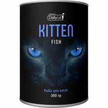 Сухой корм Dailycat Unique line Kitten для котят с рыбой - 300 г