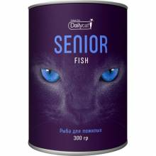 Сухой корм Dailycat Unique line Senior для пожилых кошек с рыбой - 300 г