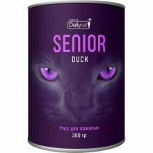 Сухой корм Dailycat Unique line Senior для пожилых кошек с уткой - 300 г