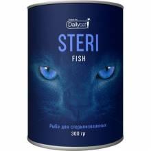 Сухой корм Dailycat Unique line Steri для стерилизованных кошек с рыбой - 300 г