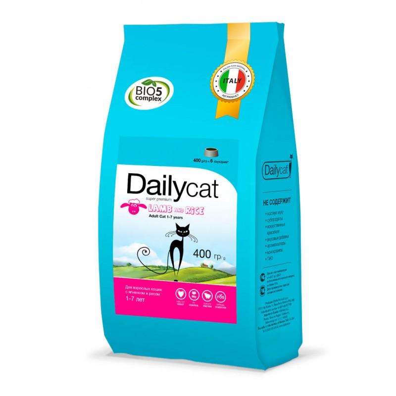 DailyCat Adult Lamb & Rice сухой корм для взрослых кошек с ягненком и рисом - 400 гр (1,5 кг) (3 кг) (10 кг)