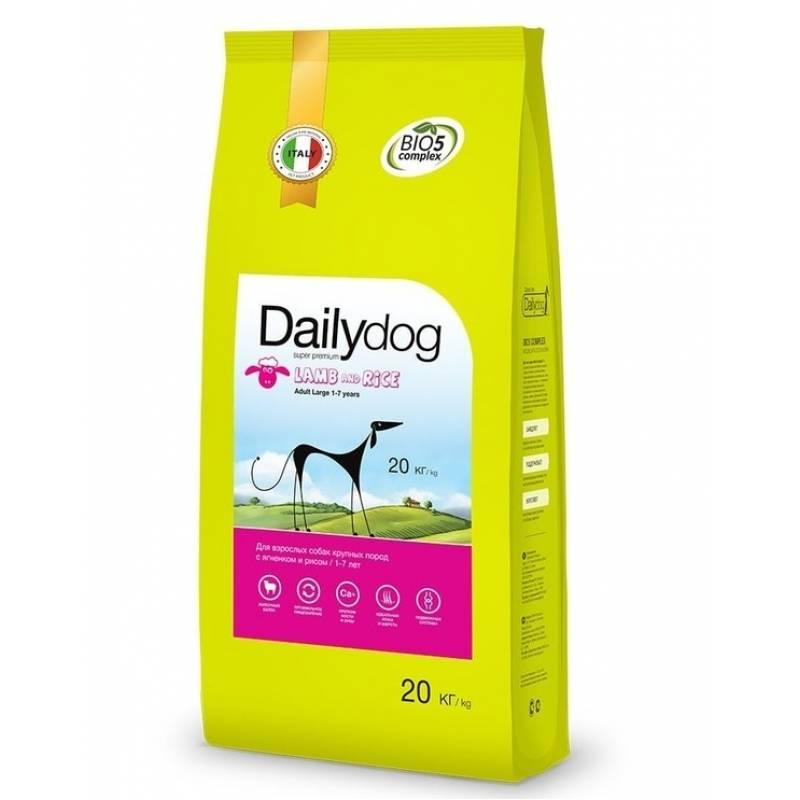 DailyDog Adult Large Breed lamb and rice корм для взрослых собак крупных пород с ягненком и рисом 3 кг (12 кг) (20 кг)