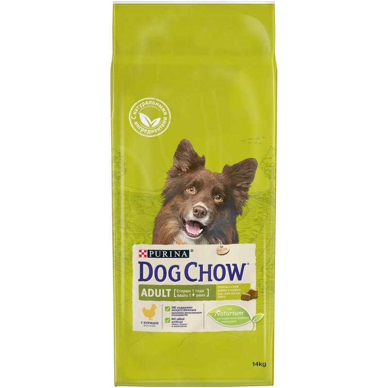 Dog Chow Adult Chicken для взрослых собак любых пород с курицей 14 кг
