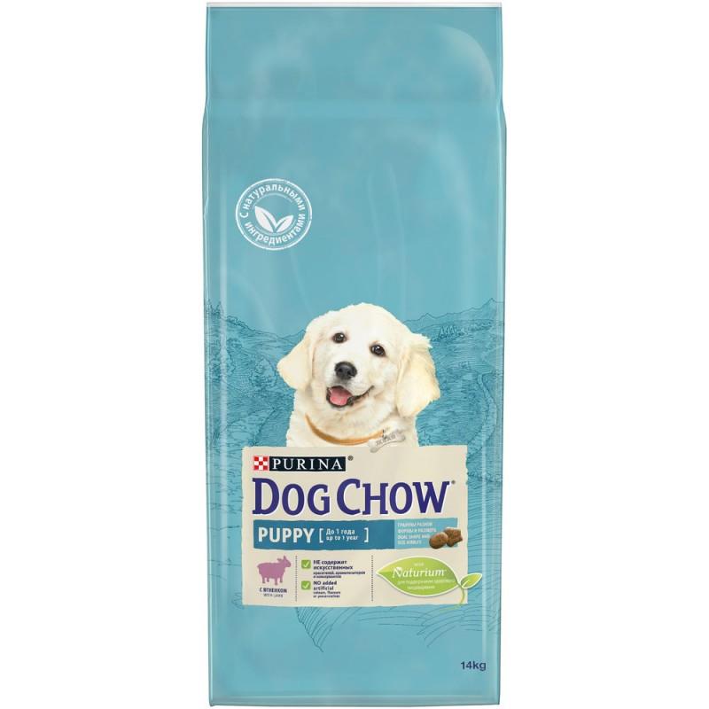Dog Chow Puppy & Junior Lamb & Rice - сухой корм Дог Чау для щенков всех пород с ягненком и рисом 14 кг