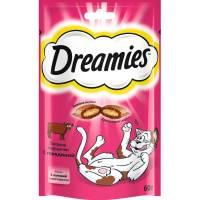 Dreamies лакомые подушечки для кошек с говядиной 140 г