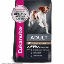 Eukanuba Dog Adult сухой корм для взрослых собак всех пород с ягненком и рисом 2,5 кг (12 кг)