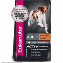 Eukanuba Adult Medium Breed корм для собак средних пород с курицей 3 кг (15 кг)