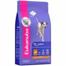 Eukanuba Puppy & Junior сухой корм для щенков всех пород с ягненком и рисом 2,5 кг (12 кг)
