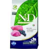 Farmina N&D Prime Dog GF Lamb & Blueberry Adult Medium Maxi сухой беззерновой корм для взрослых собак крупных и средних пород с ягненком и черникой 12 кг