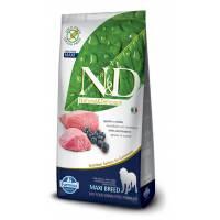Farmina N&D Dog Lamb & Blueberry Adult Maxi беззерновой сухой корм для взрослых собак крупных пород с ягненком и черникой 12 кг