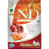 Farmina N&D Dog GF Pumpkin chicken & pomegranate adult mini беззерновой сухой корм с курицей, гранатом и тыквой для взрослых собак мелких пород 0,8 кг (2,5 кг) (7 кг)