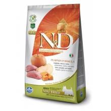 Farmina N&D Dog GF Pumpkin boar & apple adult mini беззерновой сухой корм с кабаном, яблоками и тыквой для взрослых собак мелких пород 0,8 кг (2,5 кг) (7 кг)