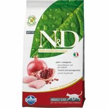 Farmina N&D Grain-Free Feline Chicken & Pomegranate Adult сухой корм с курицей и гранатом для взрослых котов или кошек 1,5 кг (5 кг) (10 кг)