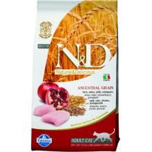 Farmina N&D Low-Grain Feline Chicken & Pomegranate Adult сухой корм для кошек с курицей и гранатом 1,5 кг (5 кг) (10 кг)