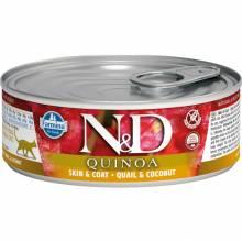 Farmina N&D влажный корм для взрослых кошек с киноа, перепелом и кокосом - 80 г х 12 шт