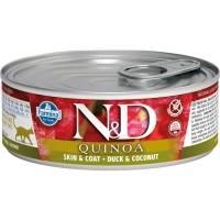 Farmina N&D влажный корм для взрослых кошек с киноа, уткой и кокосом - 80 г х 12 шт