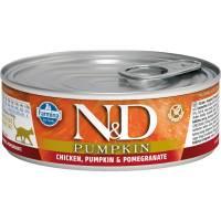 Farmina N&D влажный корм для взрослых кошек с тыквой, курицей и гранатом - 80 г х 12 шт