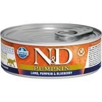 Farmina N&D влажный корм для взрослых кошек с тыквой, ягненком и черникой - 80 г х 12 шт