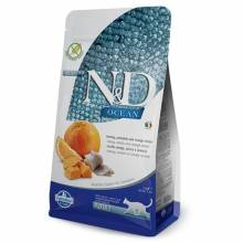 Farmina N&D Ocean сухой корм для взрослых кошек с сельдью, тыквой и апельсином - 1,5 кг