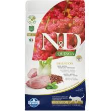 Farmina N&D Cat Grain Free quinoa digestion lamb корм для взрослых кошек улучшающий пищеварение с ягненком и киноа 1,5 кг