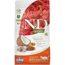 Farmina N&D Cat Grain Free quinoa skin & coat herring корм для взрослых кошек здоровая кожа и шерсть с сельдью и киноа 1,5 кг
