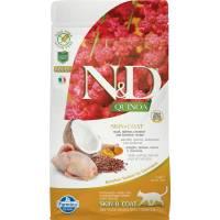 Farmina N&D Cat Grain Free quinoa skin & coat quail корм для взрослых кошек здоровая кожа и шерсть с перепелом и киноа 1,5 кг