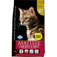 Farmina Matisse Chicken & Rice сухой корм для взрослых кошек с курицей и рисом 1,5 кг (10 кг) (20 кг)