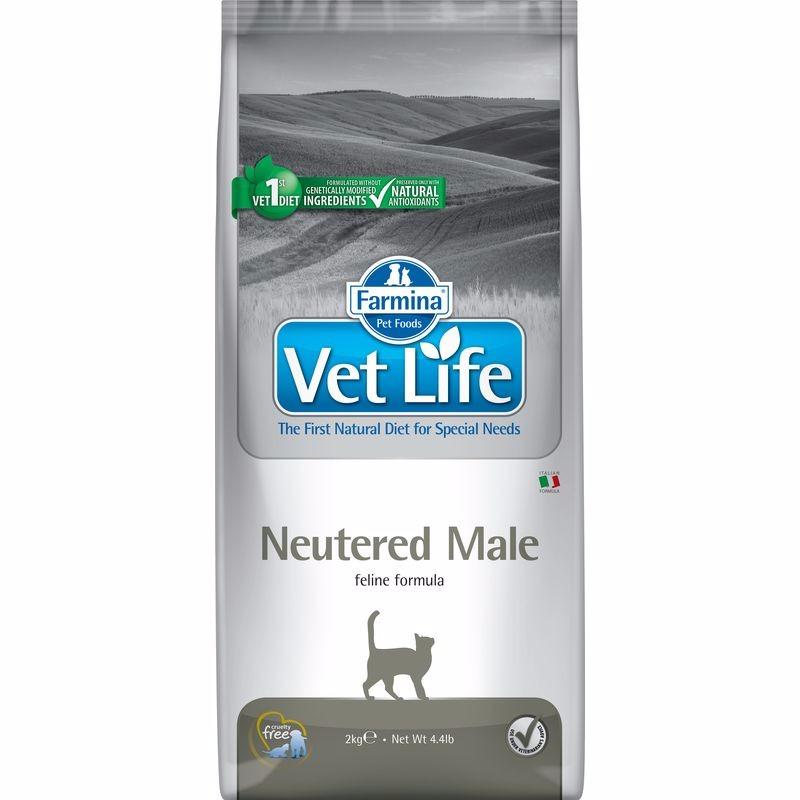 Farmina Vet Life Cat Neutered Male ветеринарный диетический сухой корм для взрослых кастрированных котов - 2 кг (5 кг) (10 кг)