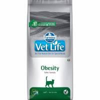 Farmina Vet Life Cat Obesity ветеринарный диетический сухой корм для взрослых кошек с излишнем весом - 2 кг (10 кг)