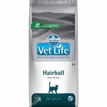 Farmina Vet life Hairball сухой корм для взрослых кошек способствующее выведению комочков шерсти из кишечника 2 кг (10 кг)