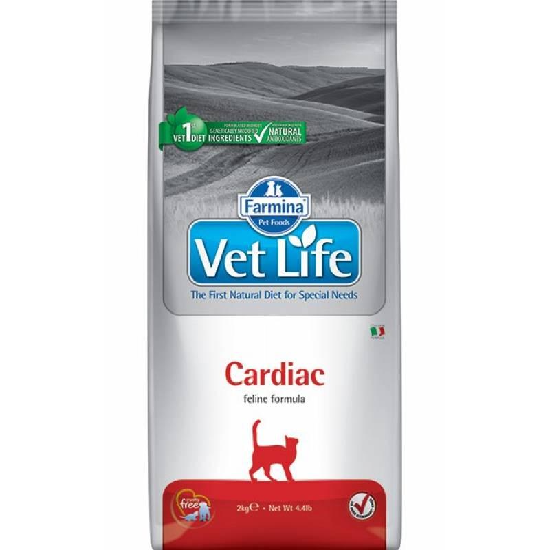 Farmina Vet Life Cat Cardiac ветеринарный диетический сухой корм для взрослых кошек с хронической сердечной недостаточностью - 2 кг