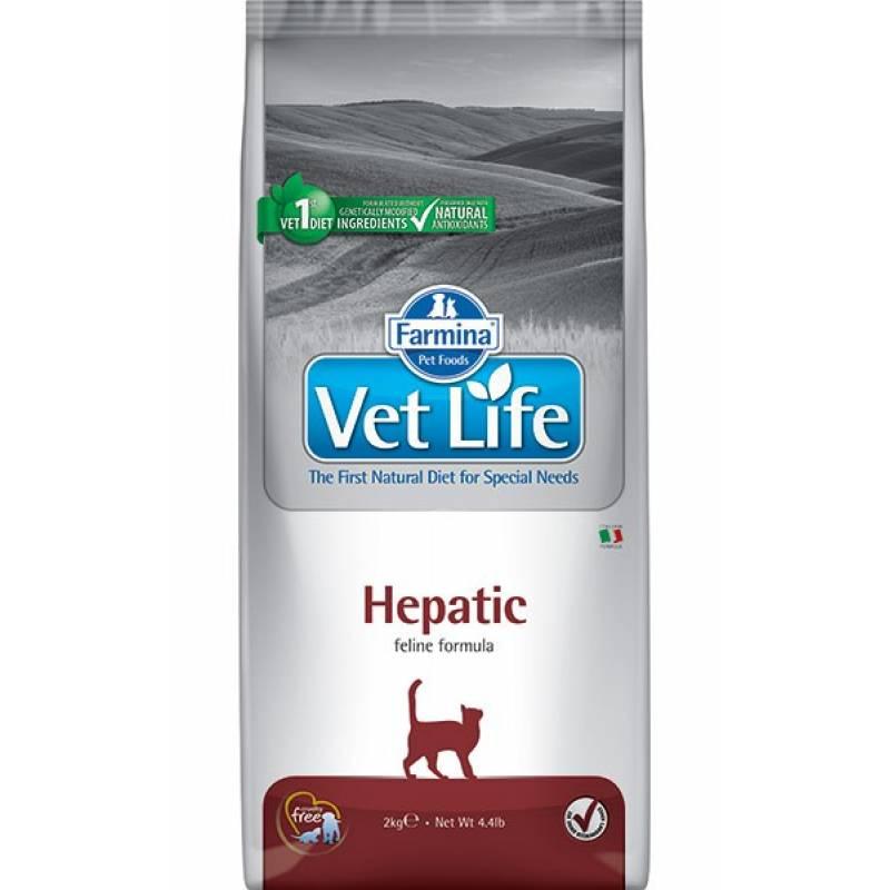 Farmina Vet Life Cat Hepatic ветеринарный диетический сухой корм для взрослых кошек и котов с хронической печеночной недостаточностью - 2 кг