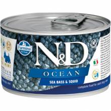 Farmina N&D Ocean влажный корм для собак мелких пород с сибасом и кальмаром - 140 г х 6 шт