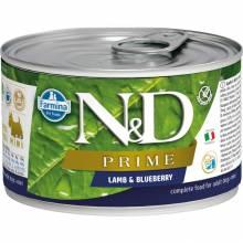 Farmina N&D Prime влажный корм для собак мелких пород с ягненком и черникой - 140 г х 6 шт