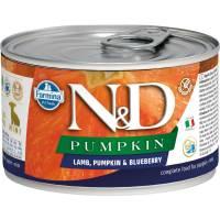 Farmina N&D влажный корм для щенков мелких пород с тыквой, ягненком и черникой - 140 г х 6 шт
