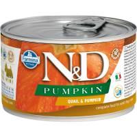 Farmina N&D влажный корм для взрослых собак мелких пород с тыквой и перепелом - 140 г х 6 шт