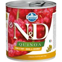 Farmina N&D влажный корм для взрослых собак с киноа, перепелом и кокосом  - 285 г х 6 шт
