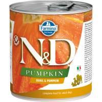 Farmina N&D влажный корм для взрослых собак с тыквой и перепелом - 285 г х 6 шт