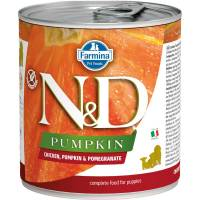Farmina N&D влажный корм для взрослых собак с тыквой, курицей и гранатом - 285 г х 6 шт