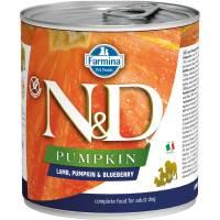 Farmina N&D влажный корм для взрослых собак с тыквой, ягненком и черникой - 285 г х 6 шт