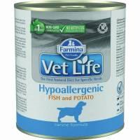 Влажный корм Farmina Vet Life Hypoallergenic для собак при аллергии с рыбой и картофелем - 300 г х 6 шт